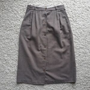 Vintage Brown High Waisted Skirt
